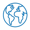 Earth Icon - Cobalt