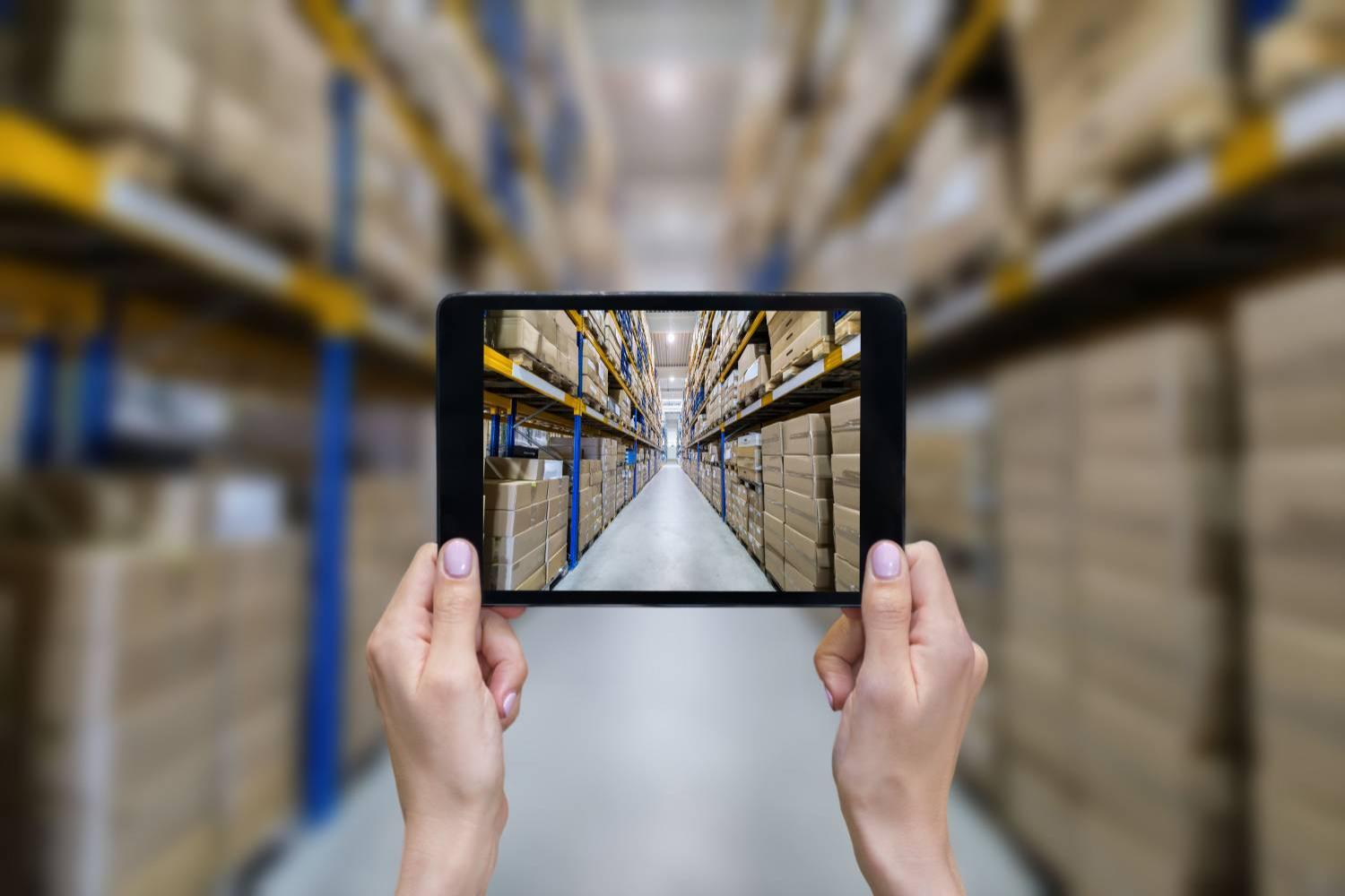 Tablet in warehouse
