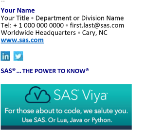 Email signature template - HTML with optional content