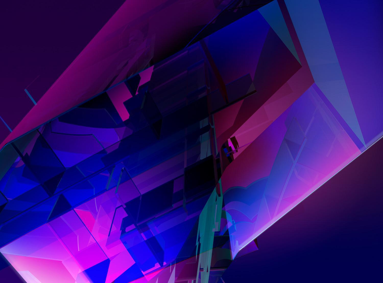 Purple Blue Pink Digital Abstract Art