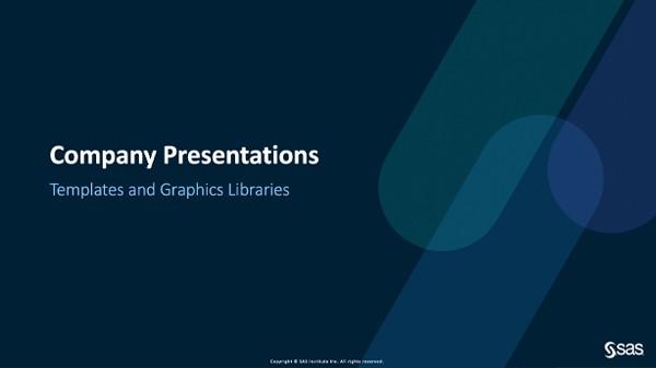 Cover slide - SAS presentation template