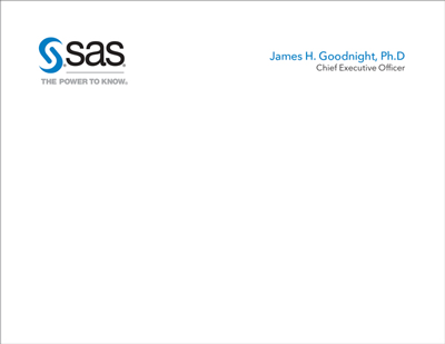 Preview image of SAS corporate executive notecard