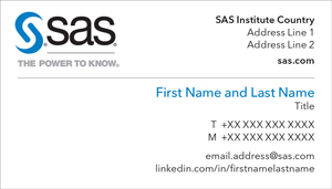 Preview image of SAS corporate business card